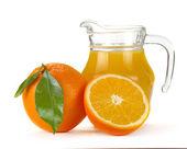 Orange juice and fruit — Stock Photo