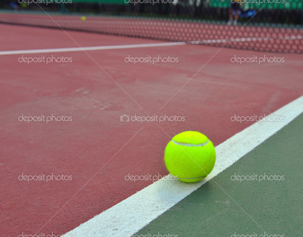 New Tennis Balls shot on a outdoor tennis court — Stock Photo #8169825