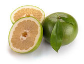 Citrus sweety fruit with leaves — Stock Photo