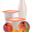 Royalty-Free Stock Vektorgrafik: Yogurt  and peach