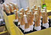 Bottle of champagne wines — Stock Photo