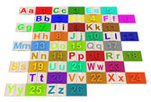 English alphabet — Stock Photo