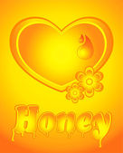 Honey heart — Stock Vector