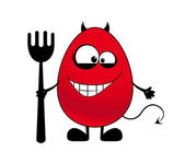 Devil with a fork — Stock Vector