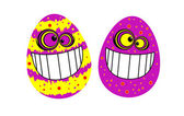 Funny easter eggs — Stock Vector