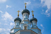 The domes of the Orthodox Church — Stock Photo