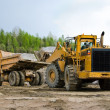 Excavation and dump vehicle — Stock Photo
