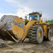 Excavation with big stone — Stock Photo #9875549