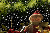 Snowman merry Christmas — Stock Photo