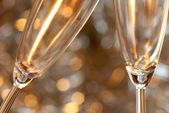 Christmas toast with champagne — Stock Photo