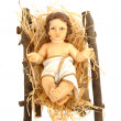 Nativity, baby jesus in his crib — Stock Photo #8028898