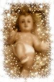 Nativity scene, baby jesus — Stock Photo