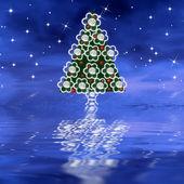 花とかわいいクリスマス ツリー — ストック写真