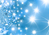 Starry Night Blue Christmas background — Stock Photo