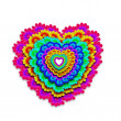 Colorful heart happy — Stock Photo