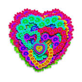 Hippie heart — Stock Photo