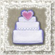 Wedding cake card — Stock Photo
