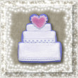 Wedding cake card — Stock fotografie