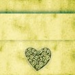 Grunge background with heart — Stock Photo