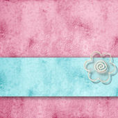 Romantic pink and blue background, with copy space — Stock Photo