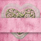 Wedding invitation with heart — Stock Photo