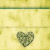 Fond grunge avec coeur — Photo