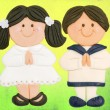 First Holy Communion Invitation Card - Stock Photo