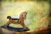 Antique toys, rocking horse — Foto de Stock