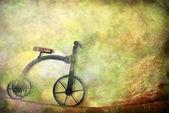 Karte altes Spielzeug, Dreirad-Fahrrad — Stockfoto
