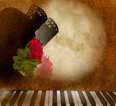 Card background Andalusian flamenco singer woman — Stock Photo
