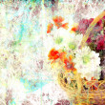 Flowers grunge background — Stock Photo