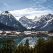 Aachensee and the Alps — Stock Photo