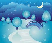 Fairy-tale winter landscape — Stock Vector