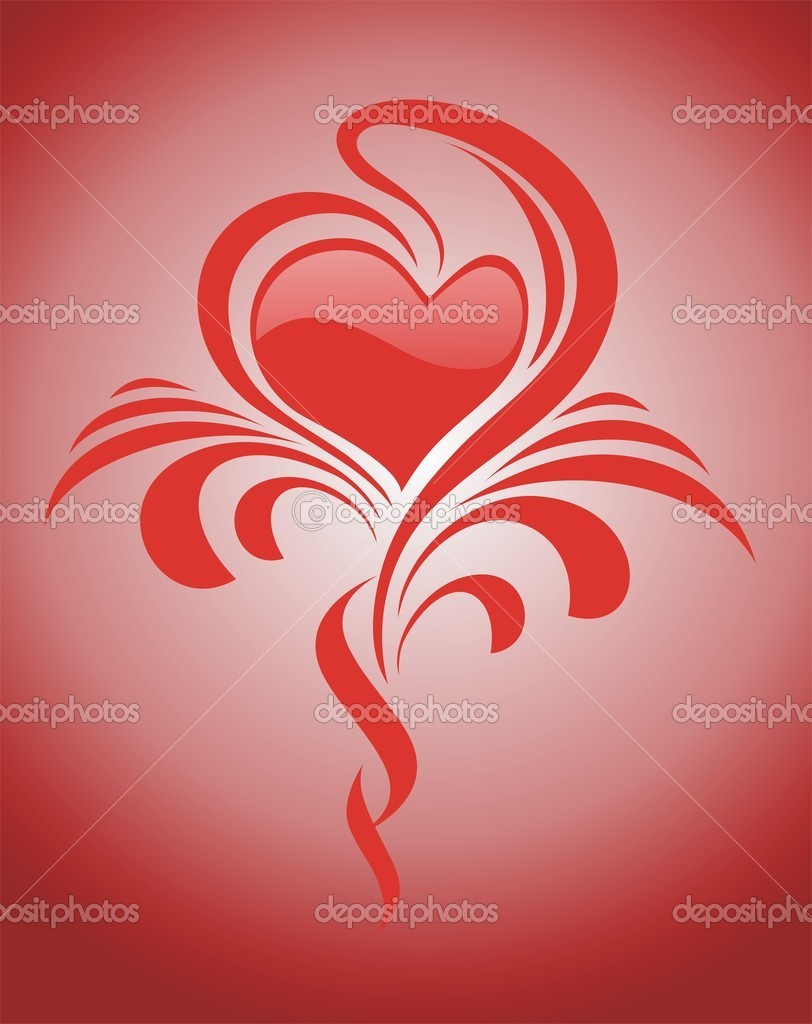 Valentine's day illustration with heart symbol — Stock Vector #9661132