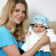 Happy mother with baby — Stock Photo