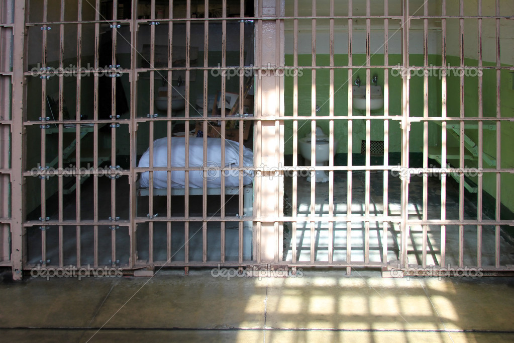 Inside view of Alcatraz Jail House Block — Stock Photo #8221446