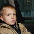 Boy in the automobile - Stock Photo