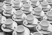 Cups, Saucers And Spoons — Stock Photo