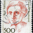 Постер, плакат: GERMANY CIRCA 1989:A stamp printed in Germany shows image of Alice Salomon circa 1989