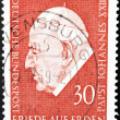 GERMANY - CIRCA 1969: a stamp printed in the Germany shows Pope John XXIII, circa 1969 — Stock Photo