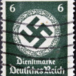 GERMANY - CIRCA 1943: A postage stamp printed in Germany shows the Swastika of the German Reich, circa 1943 — Stock Photo