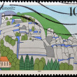 GERMANY - CIRCA 1995: A stamp printed in Germany shows Oberlausitz , circa 1995 — Stock Photo