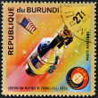 Stock Photo: BURUNDI - CIRC1975: stamp printed in Burundi shows Apollo 11, circ1975