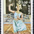 CAMBODI- CIRC1985: stamp printed in Cambodidedicated to traditional dance, shows Apsara, circ1985 — Stock Photo #10208887