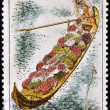 Stock Photo: CZECHOSLOVAKI- CIRC1971: stamp printed in Czechoslovakia, shows fruit grower´s barge by Cyril Bouda, circ1971