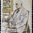 CZECHOSLOVAKI- CIRC1986: stamp printed in Czechoslovakishows portrait of Otakar Kubín, circ1986 — Stock Photo #10208950