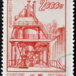 CHINA - CIRCA 1954: A stamp printed in China shows Dong Bei power plant, circa 1954 — Stock Photo