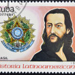 Stock Photo: CUBA - CIRCA 1988: stamp printed in Cuba, shows Tiradentes, Brazil, circa 1988.