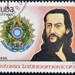 CUBA - CIRCA 1988: stamp printed in Cuba, shows Tiradentes, Brazil, circa 1988. — Stock Photo