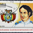Stock Photo: CUB- CIRC1988:stamp printed in Cubshows chief M. A. Padilla, Bolivia, circ1988
